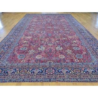 Antique Persian Kerman Gallery Size Handmade Rug (8'10 x 18'2)