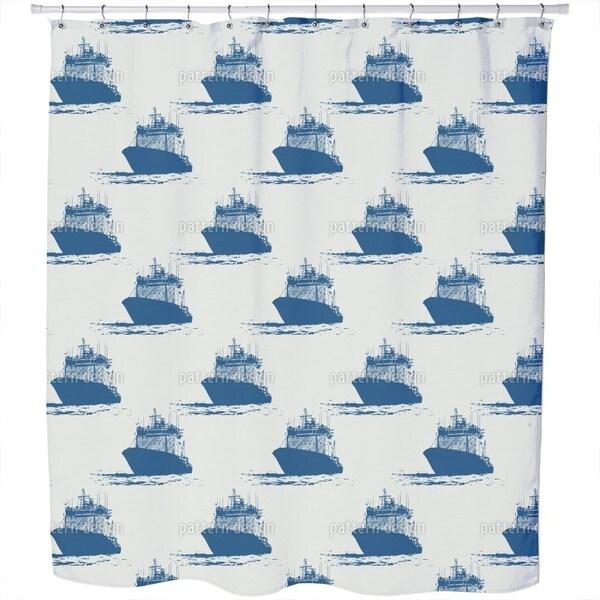 Cast Off Nautical Shower Curtain