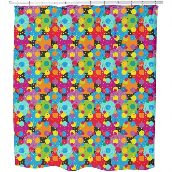 Carneval of Circles Shower Curtain