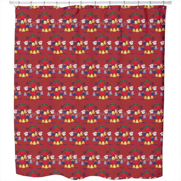 Carillon Red Shower Curtain