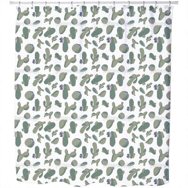 Cacti Collection Shower Curtain