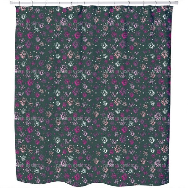 Butterfly Universe Shower Curtain