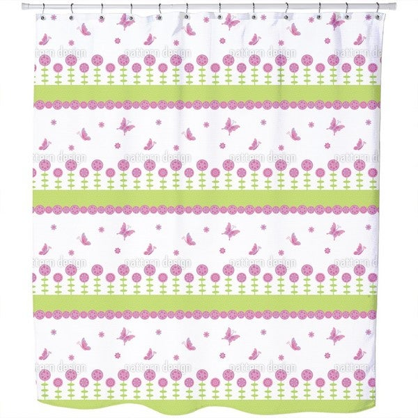 Butterfly Happiness Shower Curtain