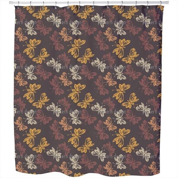 Butterflies in Autumn Shower Curtain
