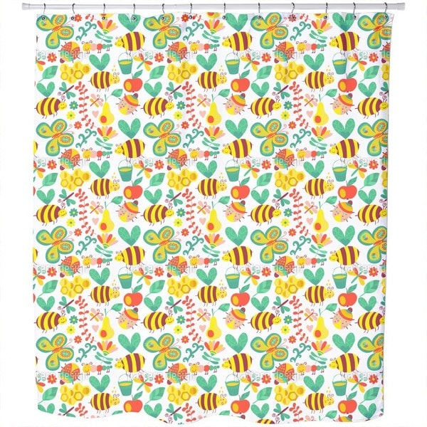 Busy Honey Bees Shower Curtain