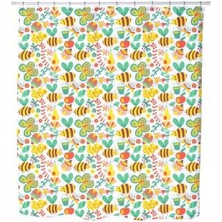 Sweet Jojo Honey Bumble Bee Shower Curtain - Free Shipping On ...