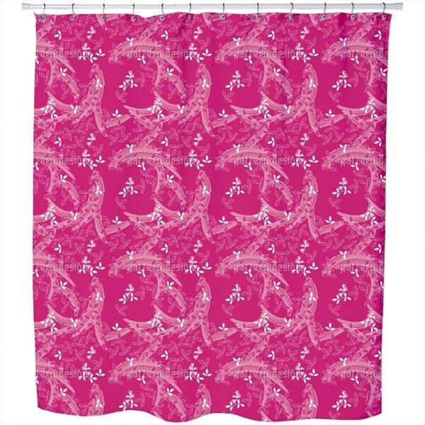Bush Clover Asia Pink Shower Curtain