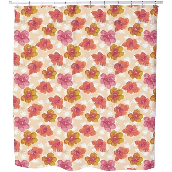 Brisk Flowers Shower Curtain