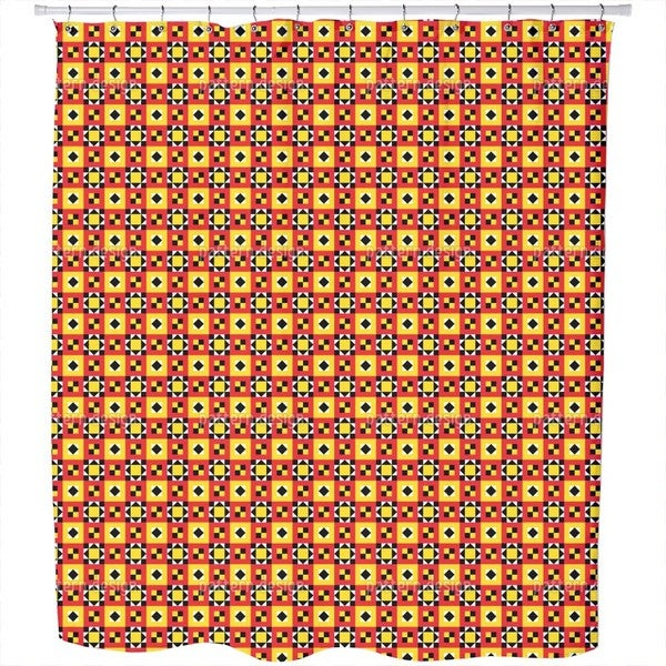 Bright Ethno Quilt Shower Curtain