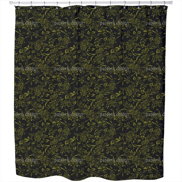 Breakfast in Gent Gold Shower Curtain - Free Shipping Today ...