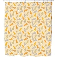 Bouncing Bunnies Yellow Shower Curtain