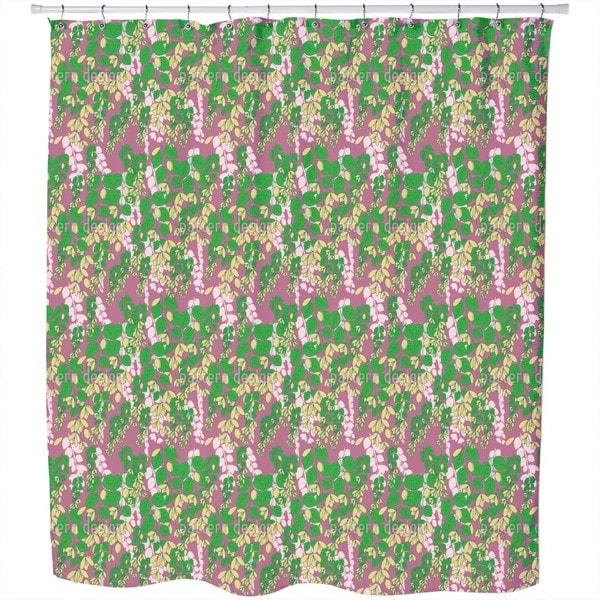 Bouganvillea Purple Shower Curtain