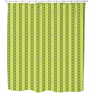 Border of The Olive Grove Shower Curtain