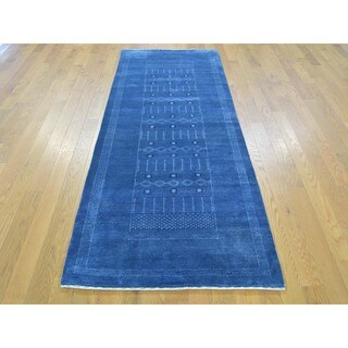 Pure Wool Lori Buft Gabbeh Hand-knotted Runner Rug (2'9 x 7'8)