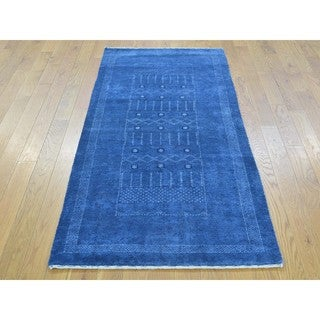 Pure Wool Lori Buft Gabbeh Hand-knotted Runner Rug (2'6 x 5'10)