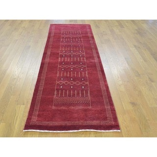 Pure Wool Lori Buft Gabbeh Hand-knotted Runner Rug (2'6 x 8'4)