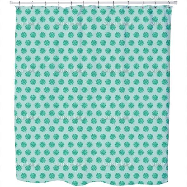 Bonbons Blue Shower Curtain