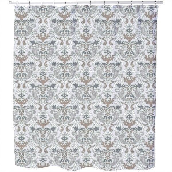 Bon Apart Grey Shower Curtain