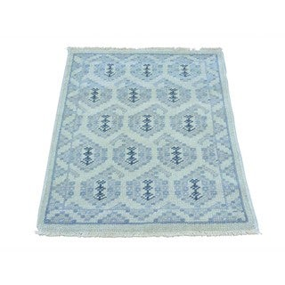 Turkish Knot Pure Wool Paisley Design Hand-knotted Rug (2' x 3')