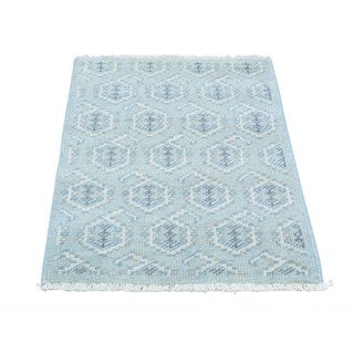 Paisley Design Turkish Knot Pure Wool Hand-knotted Rug (2' x 3')