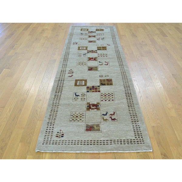 Lori Buft Gabbeh Pure Wool Hand-knotted Runner Rug (2'8 x 9'2)