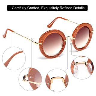 Dasein Premium Polarized Vintage Round Sunglasses with Metal Arms