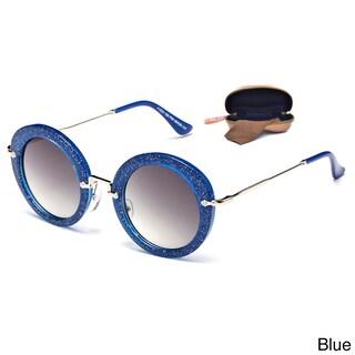 Dasein Premium Polarized Vintage Round Sunglasses with Metal Arms (Option: Blue)