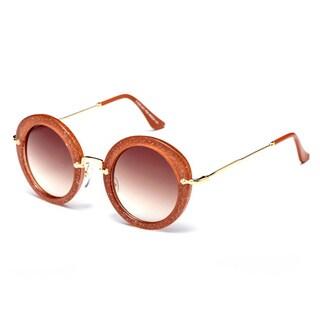 Dasein Premium Polarized Vintage Round Sunglasses with Metal Arms