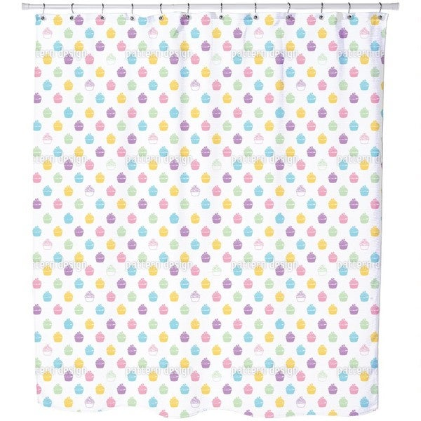 Blueberry Cupcakes Shower Curtain