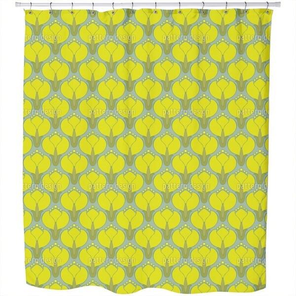 Blooming Cornelian Cherries Shower Curtain