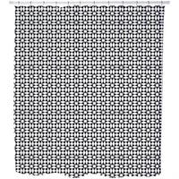 Black Diamond Illusion Shower Curtain