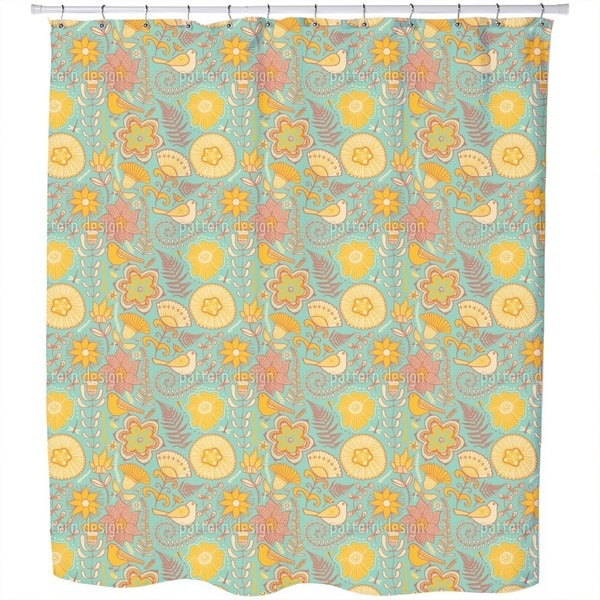 Birds Paradise Shower Curtain