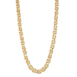 Gioelli 14k Gold Lightweight Byzantine Necklace