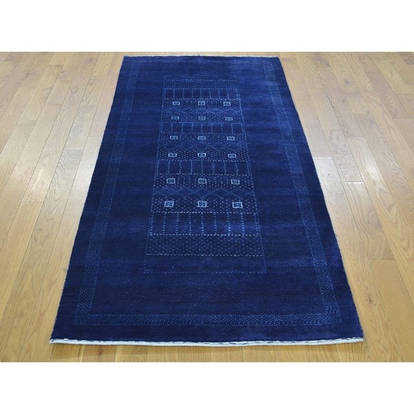 Lori Buft Gabbeh Pure Wool Hand-knotted Runner Rug (2'9 x 6'2)