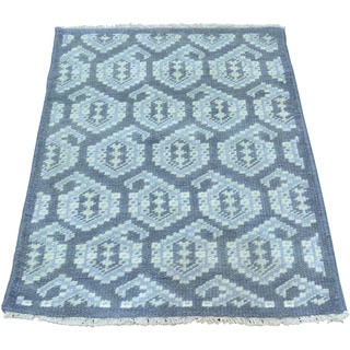 Paisley Design Hand-knotted Turkish Knot Pure Wool Rug (2' x 3')