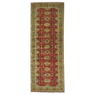 Gallery Size Karajeh Red Pure Wool Hand-knotted Rug (6' x 15'10)
