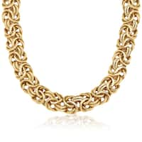 Gioelli 14k Gold High Polish Byzantine Necklace