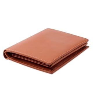 Handcrafted Men's Leather 'Elegant Tan' Wallet (India)