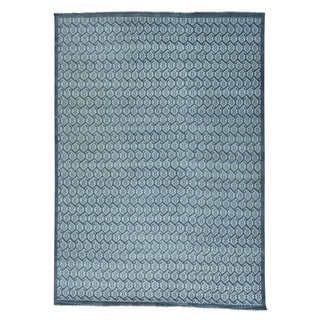 Grey Turkish Knot Paisley Design Hand-knotted Rug (10' x 13'10)