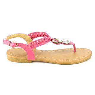 Fashion Focus Women's Braided Thong Sandals