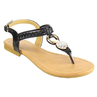 Fashion Focus Women's Braided Thong Sandals