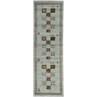 Pure Wool Lori Buft Gabbeh Hand-knotted Runner Rug (2'8 x 8'6)