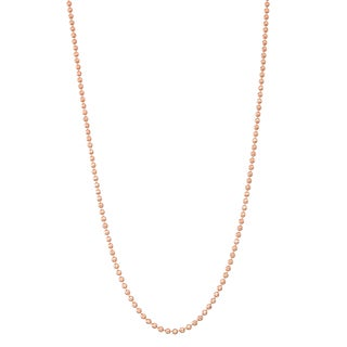 Gioelli 14k Rose Gold Ball Necklace