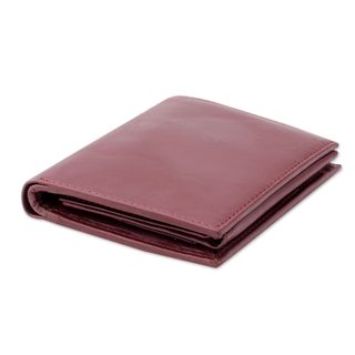 Handcrafted Men's Leather 'Elegant Cordovan' Wallet (India)