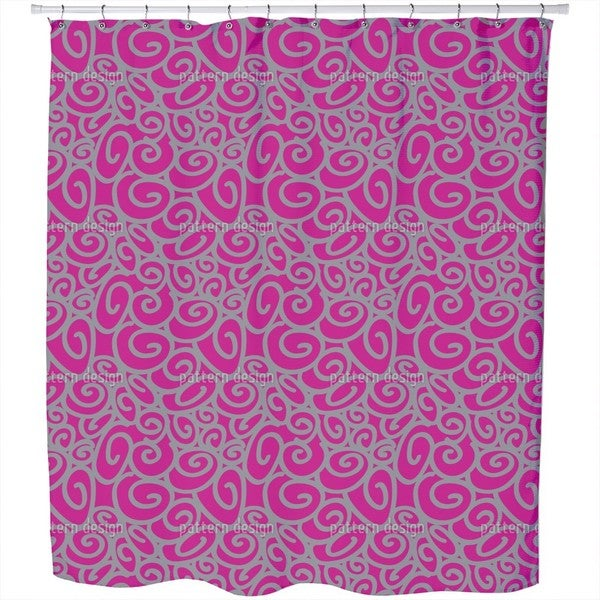 Beginning and End Magenta Shower Curtain