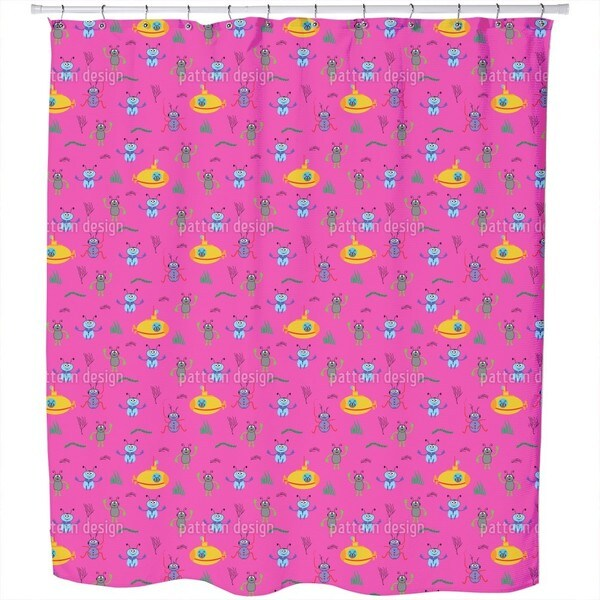 Beetles Go Diving Shower Curtain