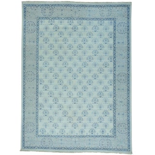 Cropped Thin Turkish Knot Oushak Hand-knotted Oriental Rug (9' x 12')