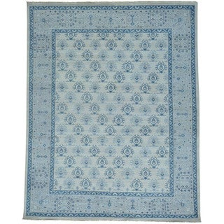 Oushak Turkish Knot Cropped Thin Hand-knotted Rug (7'10 x 9'9)