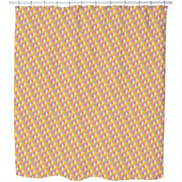 Basket Check Shower Curtain