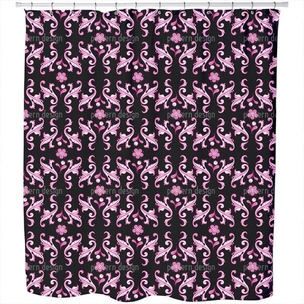 Baroquo Folk Pink Shower Curtain